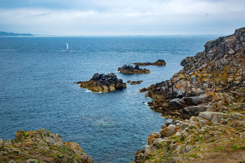 English Channel Eperquerie Isle Of Sark Beauty In Nature Day Horizon Over Water Island Nature No People Outdoors Rock - Object Rock Formation Sark Scenics Sea Sky Tranquil Scene Tranquility Water