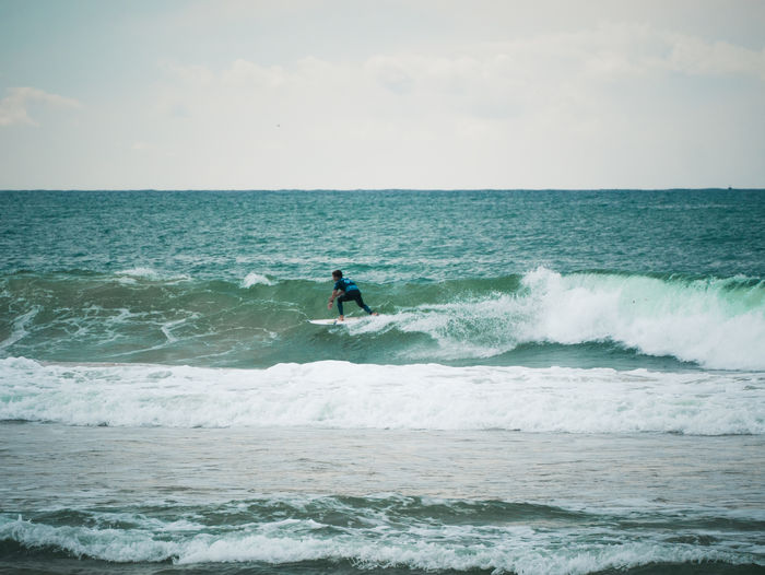 Surfer at the meo rip curl pro portugal.