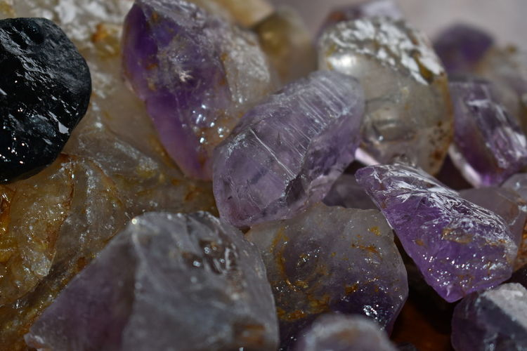 Solid Mineral Crystal Gemstone  Geology Close-up Stone - Object Rock Jewelry No People Indoors  Quartz Rock - Object Precious Gem Semi-precious Gem Purple Textured  Still Life Full Frame Stone Pebble