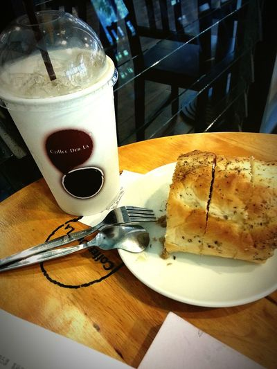 Ice Coffee Tuna Roll Breakfast Starting A Good Day Relaxing ♡Love coffe