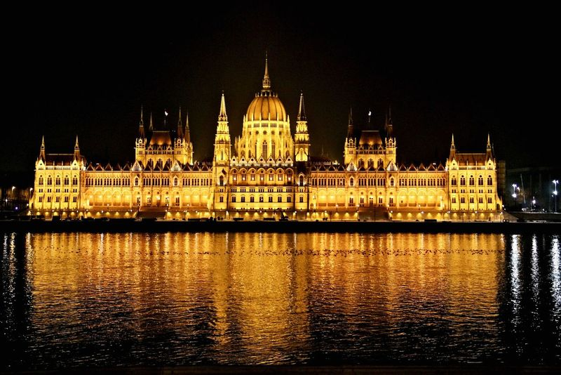 Budapest, Hungary Budapestbynight Budapest Parliament Travelling To Budapest Architecture Danube River Architectureporn Architecture_collection