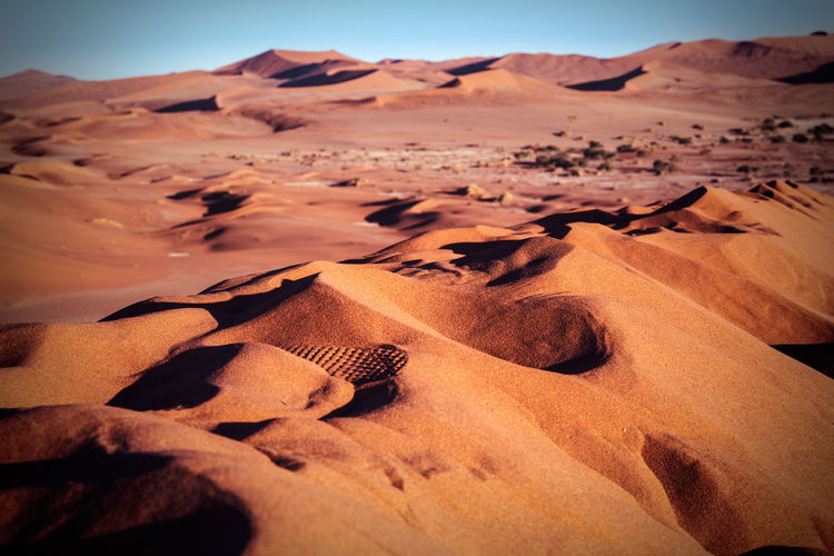 Scenic view of namib desert
