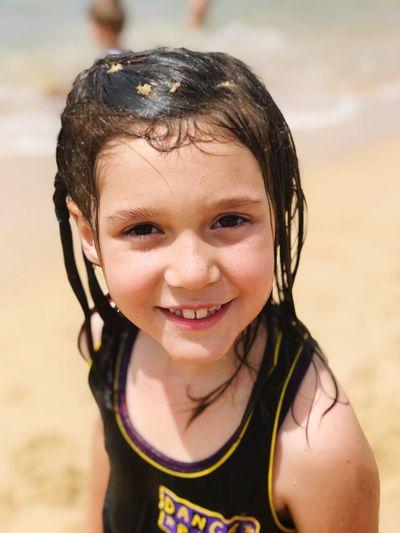 🏄♀️My Princess Loves The Beach🏄♀️ Portrait Looking At Camera Happiness Childhood One Person Smiling Wet Beach Summer Children Only Outdoors One Girl Only Water Headshot Miprincesita♥ Miamorporvida Myeverythingandmore Mitutkamavmorichai