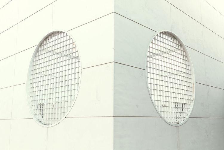 ∞ Abstract Architecture Building Circle Corner Design Geometric Shape Modern Pattern White