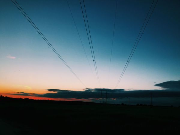 Beautiful Blue Sunset Sky No People Nature Electricity Pylon Outdoors Beauty In Nature First Eyeem Photo
