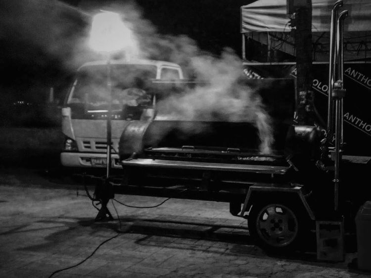 Outdoors Smoke - Physical Structure Occupation Land Vehicle BBQ BBQ Time Bbq Night Bbq!  Bbqtime Bbqnation Black Background The City Light Welcome To Black