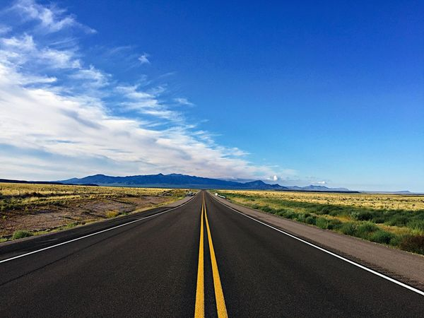 """""""Into Forever"""" Highway 54 in The Central Highlands of New Mexico, USA. The Way Forward Road Transportation Vanishing Point Landscape Blue Tranquil Scene Newmexicoskies Newmexico Newmexicophotography Highway Roads"""