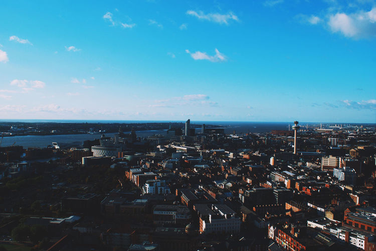 Aerial View Architecture Building Cityscape Clouds Landscape Liverpool Outdoors Photography Sky Urban VSCO