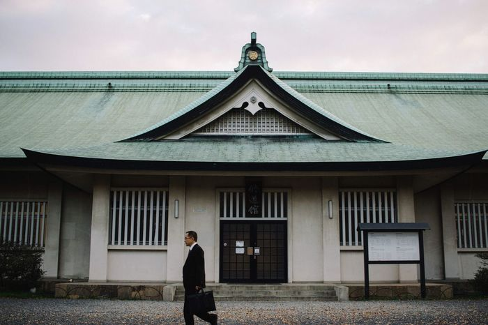 Street Photography Travel Japan Japn Temple Suit Osaka Japan Building Exterior Built Structure One Person Outdoors Standing Sky Day People First Eyeem Photo