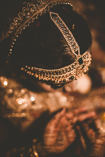 ELEGANCE Bride Indian Wedding Candid Photography Wedding Candid Closeup Christmas Decoration Close-up Christmas Ornament Glitter Decorating The Christmas Tree Glittering Ornament Abstract Backgrounds Full Frame Sequin
