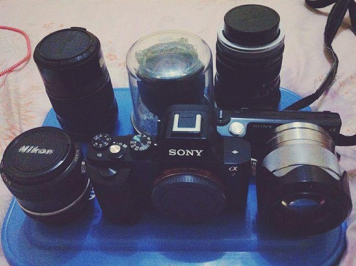 berhubung lensa nya mahal. kita pake manual aja 🙈🙈🙈 Sony A7 Sony NEX5N Nikor Nikon Lensa Manual Photography