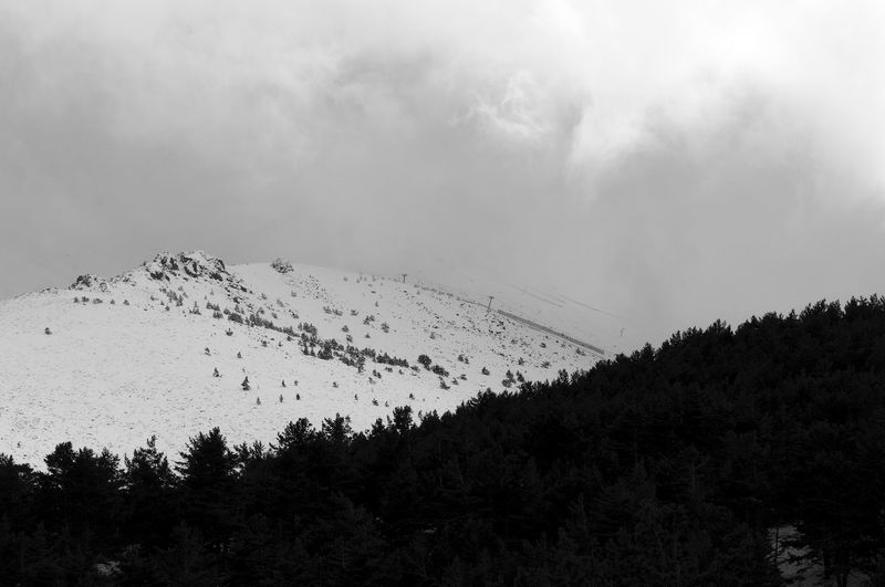High Contrast Lanscape Madrid Madrid Spain Mountain Mountain Range Mountains Mountains And Sky Mountainscape Nature Navaerrada No People Outdoors Puerto De Navacerrada Sky Snow Snow Covered Snow ❄ Snowcapped Mountain Perspectives On Nature Black And White Friday