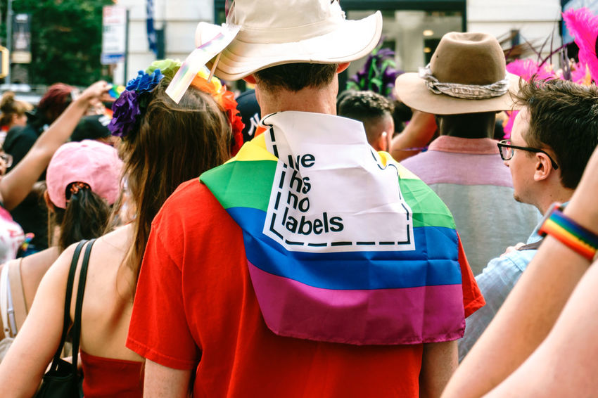 Pictures are taken during the 2017 pride parade in NYC. City Life Colorful Colors Daylight Lgbt Lgbt Pride People People Photography Pride Pride Flag Pride March Pride Parade Prideparade Prideparade2017 Public Space Street Art Street Photography Streetphotography Walking Around The City  Walking People Young Adult Love Is Love