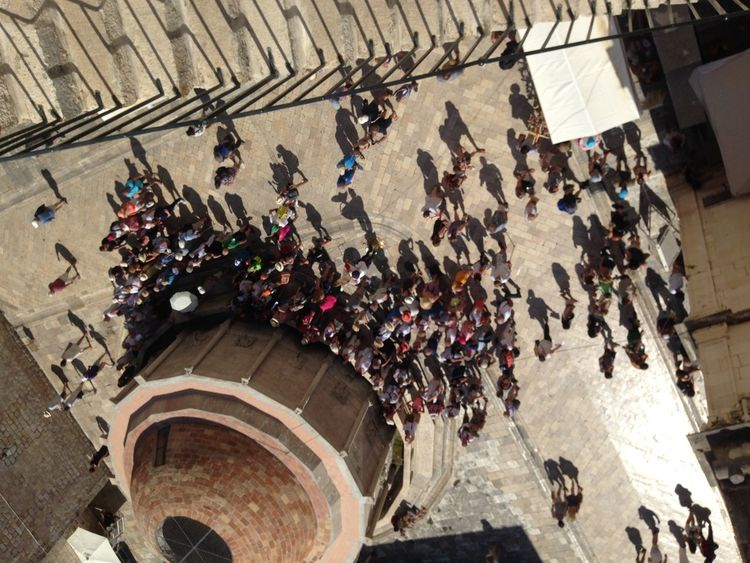 Architecture Cistern Crowds Day Dubrovnik Gathering High Angle View Inverted Large Group Of People Oldcity Outdoors People Travelabroad Venetian Walls