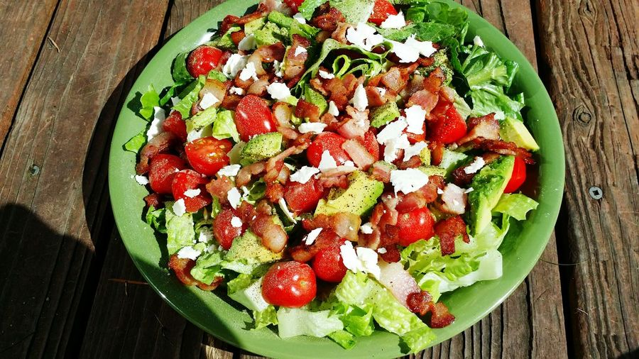 BLT in salad form added some feta and avocado.