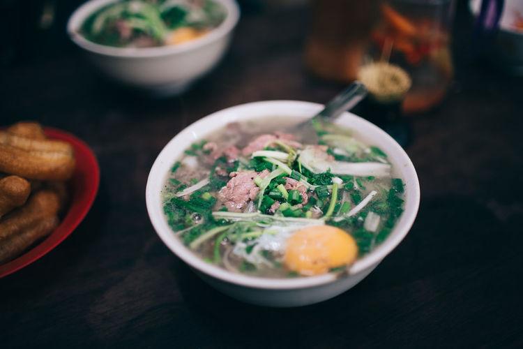Best Pho in Ha Noi Breakfast Dish Street Food Worldwide My Best Travel Photo Breakfast Dish Egg Food Healthy Meat Pho Soup Soup