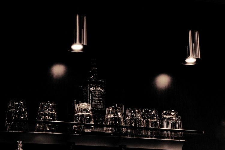 Black Photography Photo Of The Day Beautiful Object Camera Canon Canonphotography Brown Fragile Eos77D Whiskey Jackdaniels Bar Drinking Pub Lighting Equipment Illuminated Black Background Light Bulb No People Indoors  Night Business Stories EyeEmNewHere