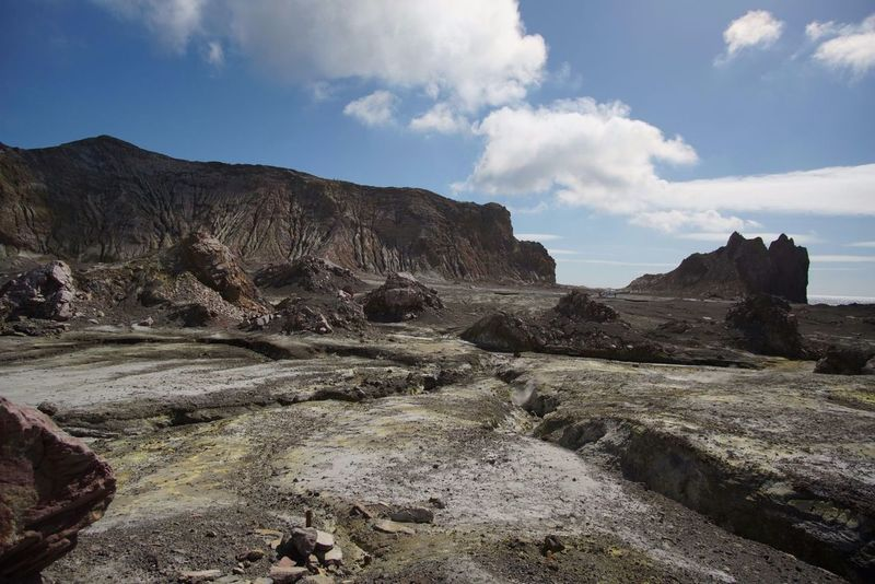 WhiteMoon Landscape Fossil Geology Nature Outdoors Moon Surface Narniamoviescene Narnia  White Island NZ - Gas Mask Required 😄😄🌋🌋 Other World Devestating No Life Day