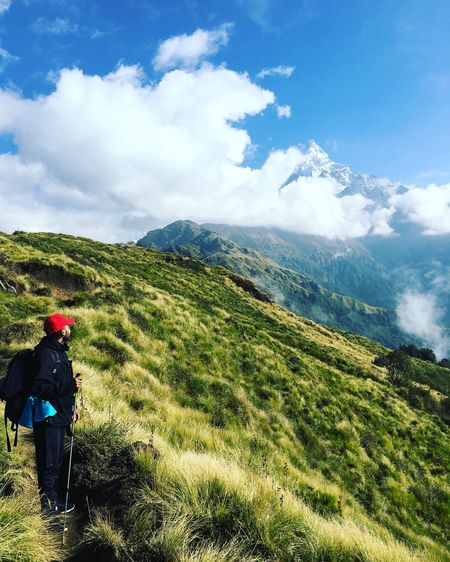 Trekking #travelling #sightseeing Mardi Himal Trek Himalayas Ranges Mountains And Sky Cloudscape Beauty In Nature Landscape_photography Sunset #sun #clouds #skylovers #sky #nature #beautifulinnature #naturalbeauty #photography #landscape Visit NEPAL Been There.