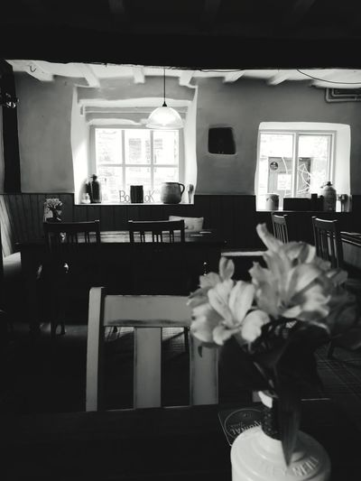 Pub Country Pub Saddleworth Uppermill Cross Keys Room Blackandwhite Table Chairs Arts Culture And Entertainment Architecture