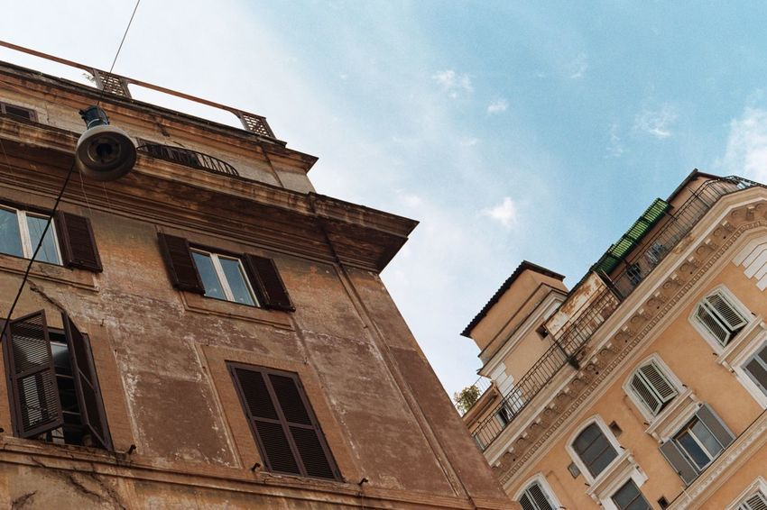 Moving Around Rome Rome Architecture Building Exterior Built Structure Italy Low Angle View