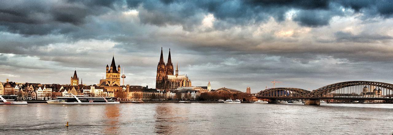 Cologne Panorama Panoramashot Cityscape