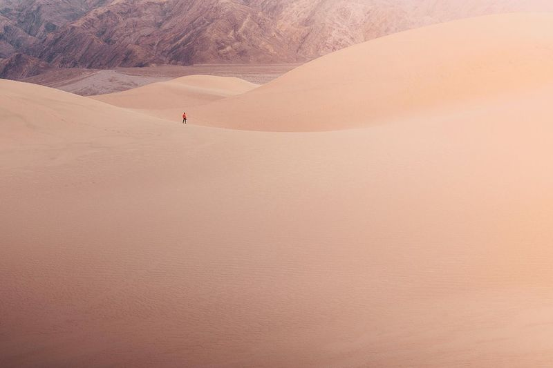 Man On Desert