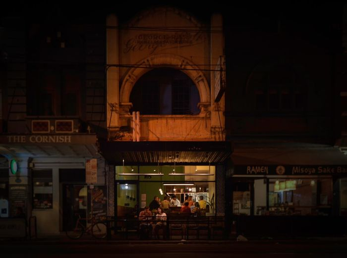 Good-days Melbourne Brunswick Australia Melbourne Vietnamese Food Gooddays Wide Angle Night Shot Built Structure Real People Architecture Arch Building Exterior