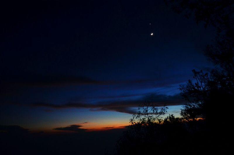 The break of dawn from the top of Mt. Merapi near Jogjakarta Break Of Dawn Sunrise Trekking Volcano Jogjakarta Jogja Yogyakarta Early Morning INDONESIA Mount Merapi Merapi