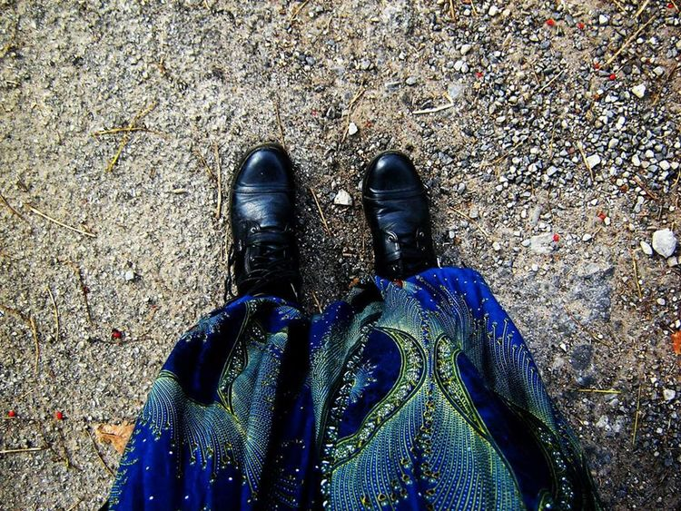 When you're not looking up. Outdoors One Person Shoe High Angle View Nature Ground Sand Hippie Life Grunge Photography Boots Are Made For Walking