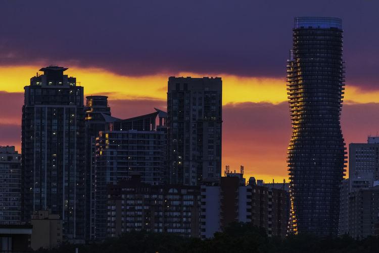The skyline.