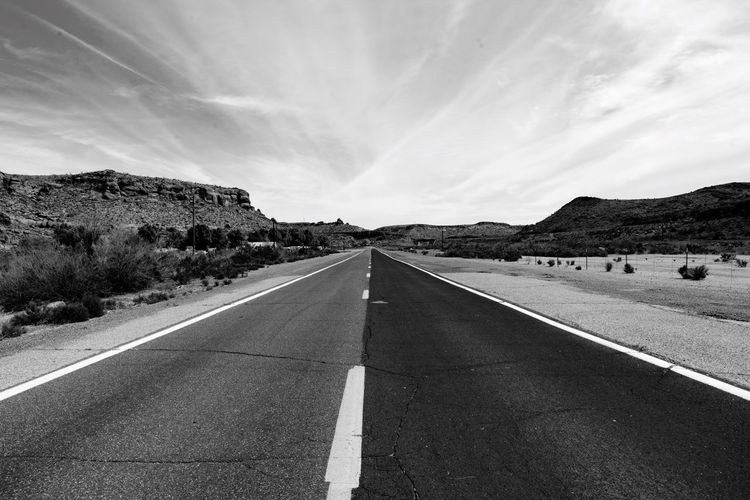 My recent Road Trip through the American southwest. Road The Way Forward Asphalt Landscape No People Vanishing Point Perspective Blackandwhite Bnw_collection Bw Blancoynegro Desert Southwest  Highway