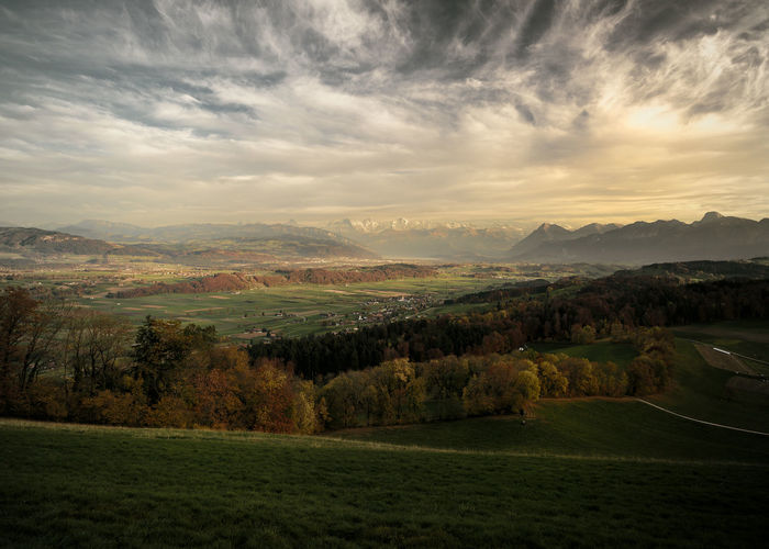 bernese highlands Bern Dusk Sky Evening Light Clouds And Sky Dusk In The Country Environment Golden Hour Grass Idyllic Land Mountain Non-urban Scene Outdoors Rural Scene Sunset Swissness Switzerland