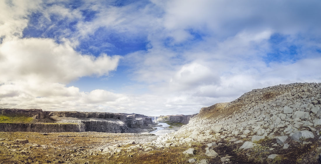 The canyon close to the Dettifoss waterfall Iceland Beauty In Nature Canyon Cloud - Sky Day Environment History Icelandic Land Landscape Nature No People Non-urban Scene North Nothingisordinary Outdoors Rock Scenics - Nature Sky Solid The Past Tranquil Scene Tranquility Travel ıceland