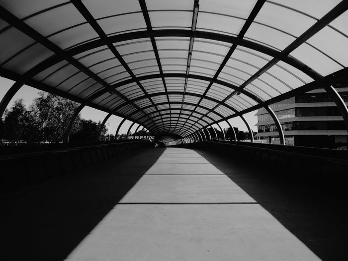 Empty Elevated Walkway In City