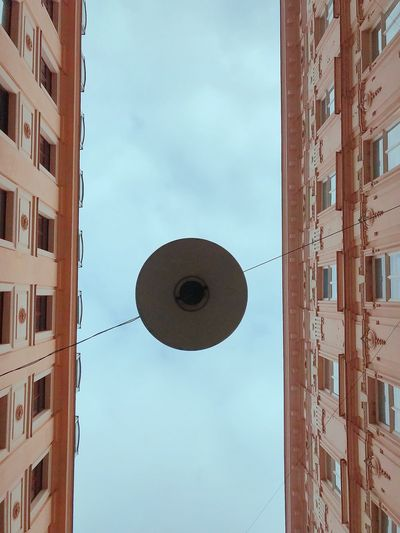 Architecture Built Structure Low Angle View Building Exterior No People Sky Day City Outdoors Lookingup Brno Czech Republic Low Angle View Sky Disk From My Point Of View Light Circular Light Lamp Suspended Light Simmetrical