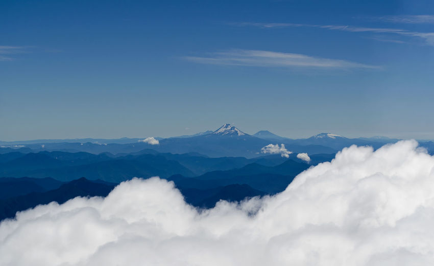 Scenic view of snowcapped mountain