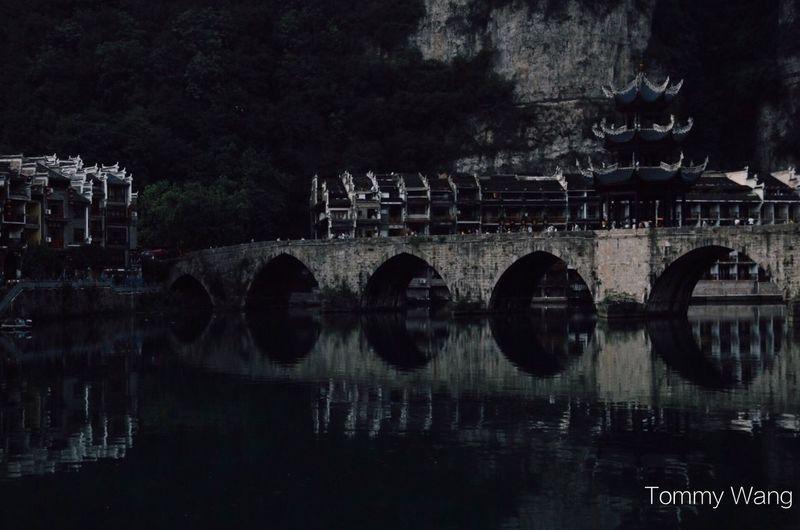 最美中国 China In My Eyes Tommy Wang Reflection Water Tree Arch No People Architecture Night Outdoors Sky