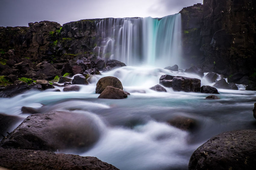 Öxarárfoss, Iceland Beauty In Nature Blurred Motion Falling Water Flowing Flowing Water Land Long Exposure Motion Nature No People Outdoors Power In Nature Rock Rock - Object Scenics - Nature Sea Solid Splashing Sport Travel Destinations Water Waterfall