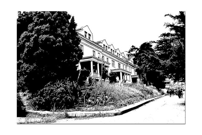 Officer's Row At Angel Island 1 Tiburon, Ca. Fort McDowell East Garrison Angel Island U.S.Army Officers Row Officers Quarters Built By Military Prison Labor From Alcatraz Monochrome_Photography Monochrome Black & White Black & White Photography Black And White Black And White Collection  Architecture Architecture_collection Housing Landscape_Collection Abstract Photography Abstract Stamp Effect Military History Built 1910 Bnw_friday_eyeemchallenge