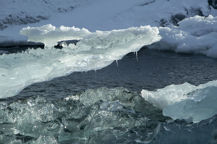 Close-Up Of Ice On Jokulsarlon Lake