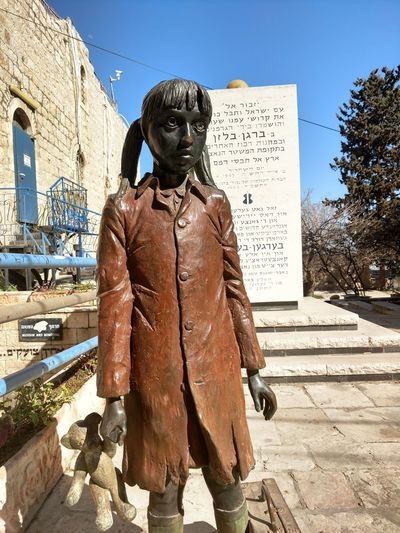 Holocaust museum in Jerusalem Horror Adult Outdoors People Human Body Part Fascism Judas Judaism Israel Jerusalem City Spooky Men Sky Adults Only Day