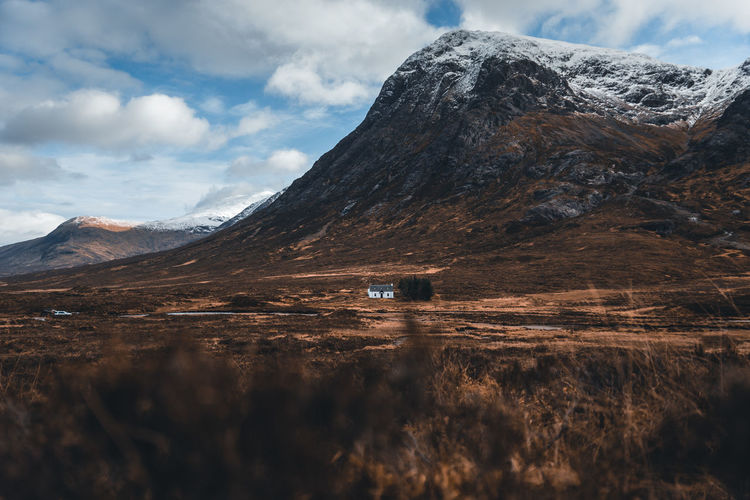 A cozy cabin in the scottish highlands.