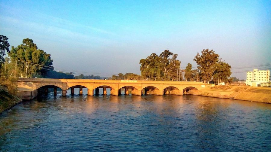 Upper chenab canal bridge, constructed more than 100 years ago during british rule in indiansubcontinent Gujranwala Bridge Old NolongerunderBritishrule Pakistan Canal Sunset Amazing Enjoying Life Beauty Of Pakistan