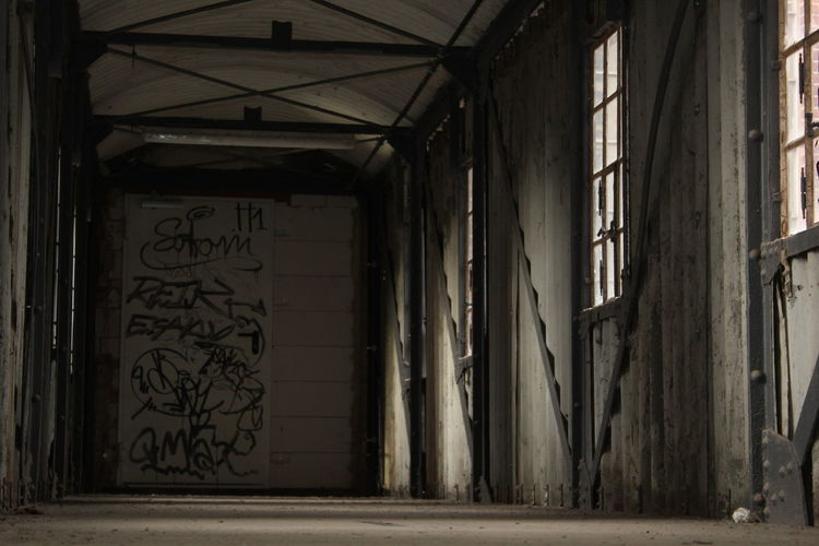 Dead-end Abandoned Architecture Built Structure Day Graffiti Indoors  No People