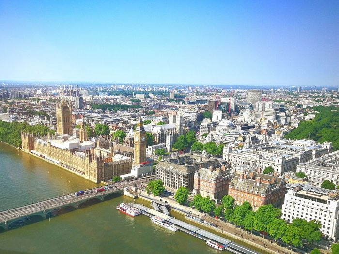 Cityscape High Angle View Architecture Travel Destinations Westminster Abbey Millenium Wheel London London Eye🎡 Outdoors Aerial View River Bridge - Man Made Structure Sky No People Urban Skyline City Day Building Exterior EyeEm LOST IN London Adventures In The City