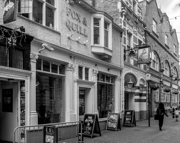 Fox and Quill, formerly the Whyte Millville WMC, Northampton Northampton Northampton Pubs Architecture Black And White