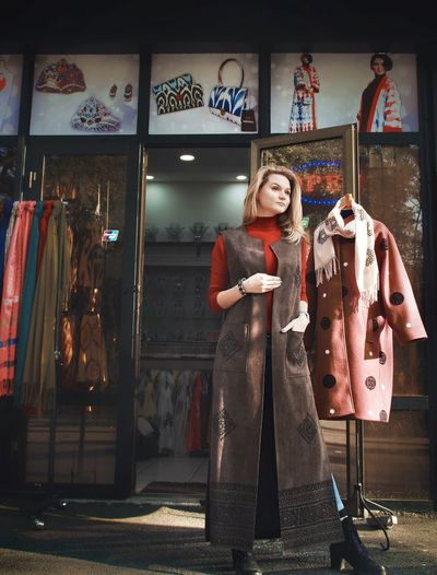 Woman standing in store