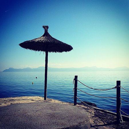 Azul Enelmar Sombrilla Sol Montanas Blue Onsea Umbrella Sun Mountains Mallorca