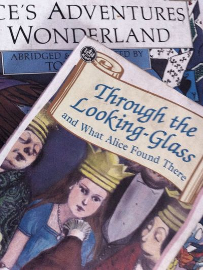 Through the Looking-Glass Alice In Wonderland Reading A Book Story Book Of Children